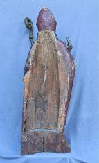 Evêque en bois polychrome
