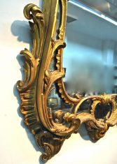 Miroir anglais XVIIIème en bois doré