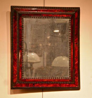 miroir des flandres en écaille et ébène