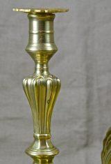 Paire de bougeoirs XVIIIème bronze