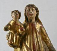 Vierge à l'enfant en bois doré