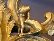 chenets bronze doré