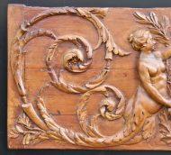 Bois sculpté XVIII Montesquieu