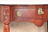 Console galbée Louis XVI acajou XIXème