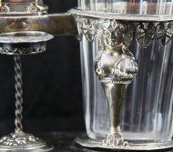 Huilier vinaigrier en argent massif Ambroise Mignerot XVIIIème