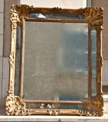 miroir à parcloses Louis XIV bois doré