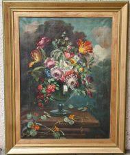 Paire de natures mortes bouquet de fleurs XXème 1