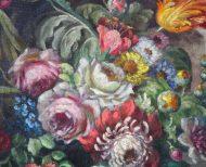 Paire de natures mortes bouquet de fleurs XXème