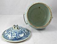 Pot couvert en porcelaine XIXème Chine