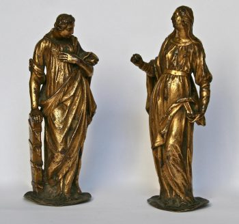 statuette en bronze doré XVIème