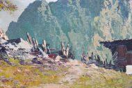 Huile sur toile Paysage de montagne Arnoh Fraboue